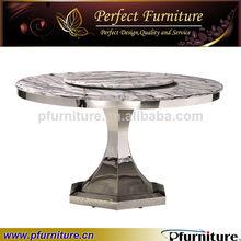 de lujo mueblesdecomedor mesa de acero inoxidable de metal y mármol mesa de comedor mesa de comedor superior mtd3165