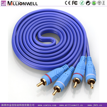 Millionwell high grade 2 RCA cable 2 rca to 2 rca , audio video cable ,av aux cable DC3.5MM 2 male to 2 male