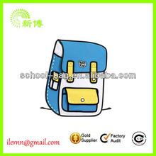 2D 3D Cartoon Satchel Backpack Bag