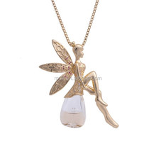 high quality 2015newest Fairy Design Necklace Jewelry Fashion For Perfume With crystal Diamond angel pendant