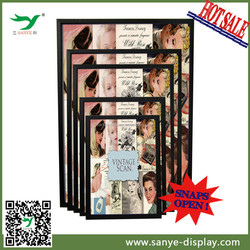 hot selling aluminum snap poster frame in Sanye display