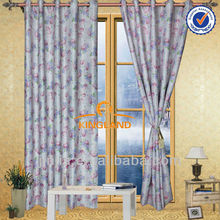 2015 fashion latest flocking curtain