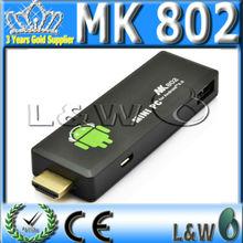 Mini pc UG 802 Google Android 4.0 ICS TV Box HDMI Stick Dongle dual core 1.66GHz Cortex A9 1GB RAM