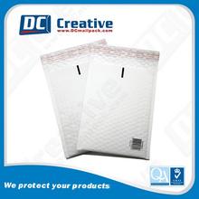 Bolha alinhado mailer reciclado branco kraft envelope carta papel envelope