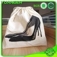 2015 Wholesale canvas jute drawstring shoe bag manufacture