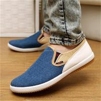 Factory,manufactur New 2016 Men shoes Autumn Man's Canvas Shoes Fashion mens shoes casual Sapatos Masculinos Slip-on Black White