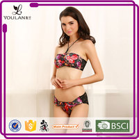 Lace Pattern Beautiful Sexual attraction sexy red hot girl wearing underwear and bra