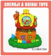 juguete de juego de casa de relojes electrónico de piano de educando de educativo de aprender para bebe con música con luz