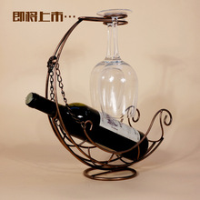 New starting an upgraded version of Corsair creative wine racks, wrought iron wine rack hanging cup holder metal crafts ornament