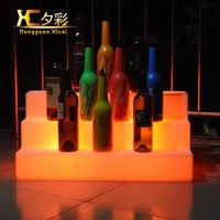 Plastic Floor LED Glowing Wine Display Color Changing Liquor Shelf Bar Club Pub Alcohol Beverage Rack