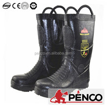 Leather standard fire resistant boots with steel toe and capes