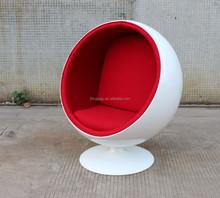 Home Furniture Chairs Replica White Fiberglass Eero Aarnio Red Ball Chair