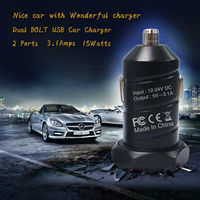 Forida factory 2014 Top Quality Hot Portable Promotional Custom Logo USB Car Charger