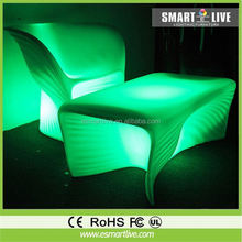 Hot sale led furniture waterproof illuminated led cube chair lighting with black color cushion