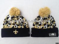 Leopard Cheetah Animal Print Knit Beanie Ski Hat One Size