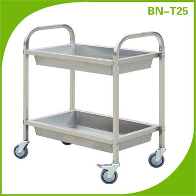 En acier inoxydable alimentaire utility service chariot 3 for Fourniture de cuisine commerciale