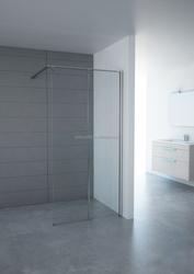 bathroom fixed shower doors hinge mirror shower doors made in China,special holder frame shower