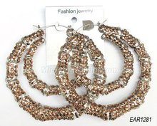 85mm large hoop earrings hot sale in 2012