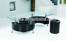 modern S shape design coffee table