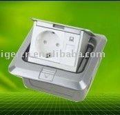Germany style aluminum alloy Europe POP UP FLOOR SOCKET BOX HGD-1FL