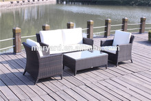 Al aire libre muebles de jardín conjunto sofá de mimbre