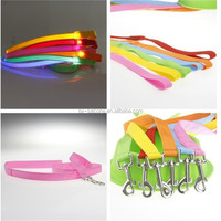 Pet Grooming Leashes Paracord Electric Nylon Led Light Dog Leashes