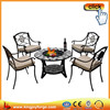 Multifunction mosaic ceramic round BBQ fire pit table sets