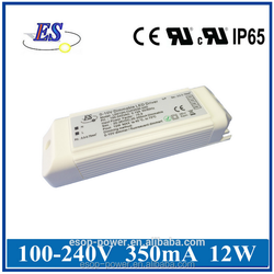 12W 350mA AC-DC Constant Current LED Driver ,1-10v dimmable led driver