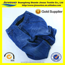 2015 chinese textile 100% cotton fabric jeans for jeans garment