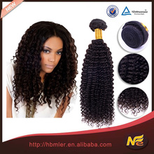 Best selling 100% human remy hair kinky curl sew in hair weave of kinky curly with no split end