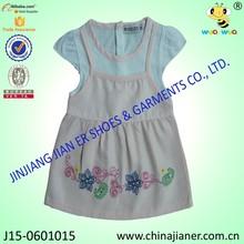 100% cotone wholesale a basso prezzo bambina abito estivo