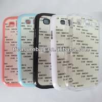 Sublimation TPU cell phone case for samsung S3 with metal sheet