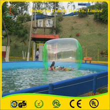 Funny PVC / TPU 3*2.2*1.8m customized Inflatable Water Rolling Ball , Water Roller for kids and adults