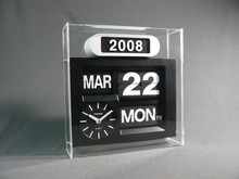 retro flip wall clock