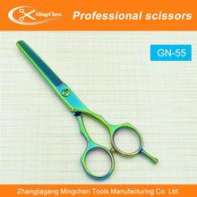 Green hair scissors, scissors,Barber Hairdressing Scissors Salon Beauty Shears