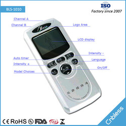 CE Rohs Approved 2 Outputs 8 Modes Electric Massage Digital Therapy Machine
