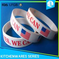 Competitive price simple design plain silicone wristband bracelet