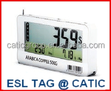 Recycle RFID electronic shelf price label LCD display / electronic label for supermarkets