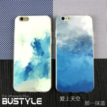 Blue Sky and Cloud design Soft Slim tpu silicone mobile case for iPhone 5s 6 Plus at factory price