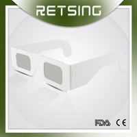 China price high quality 3d paper passive polarized glasses for watching movie