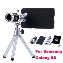 12X Optical Zoom Telescope Lens Mobile Phone Camera Kit Telephoto with Tripod Holder Case For Samsung Galaxy S6 G9200