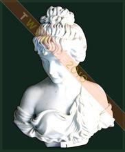 dama blanca busto estatua