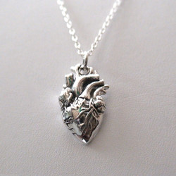 Silver heart necklace pendant,heart necklace,heart pendant