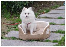 PU leather dog bed large