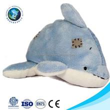 Meet ICTI Standard cheap blue stuffed plush dolphin hand puppet