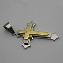 Bicolor Stainless Steel Poverb Crosses ankh Pendant for Rock and Roll