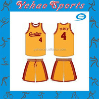 orange round neck basketball jersey with shorts 2015