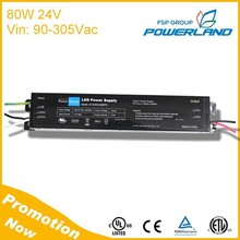 Real UL Listed 80W 24V Constant Voltage Led Driver