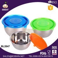 Dimension 30CM Stainless Steel Food Bowl With Plastic Lid