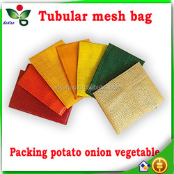 accpet custom plastic tubular bags for packing vegetable fruit wholesale